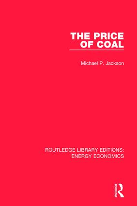 The Price of Coal: 1st Edition (Hardback) book cover