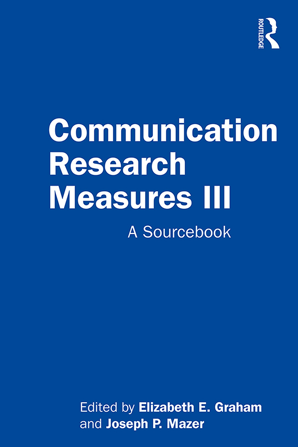 Communication Research Measures III: A Sourcebook book cover