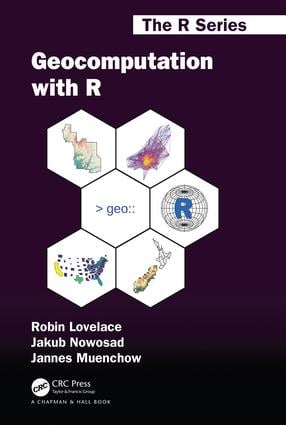 Geocomputation with R book cover