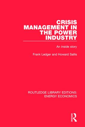 Crisis Management in the Power Industry: An Inside Story book cover