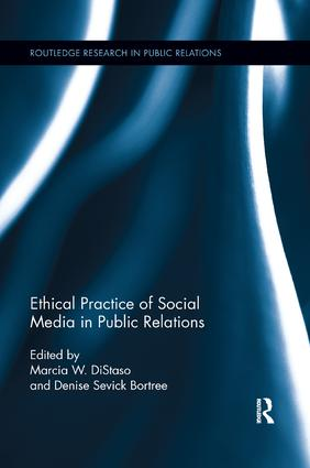 Ethical Practice of Social Media in Public Relations book cover