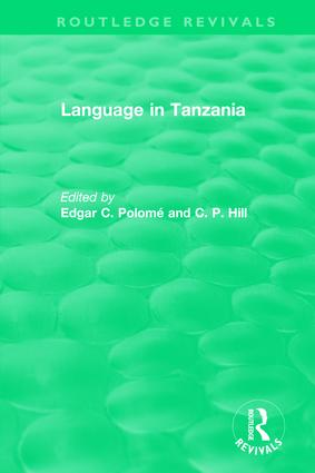 Routledge Revivals: Language in Tanzania (1980): 1st Edition (Paperback) book cover