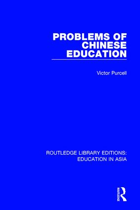 Problems of Chinese Education book cover