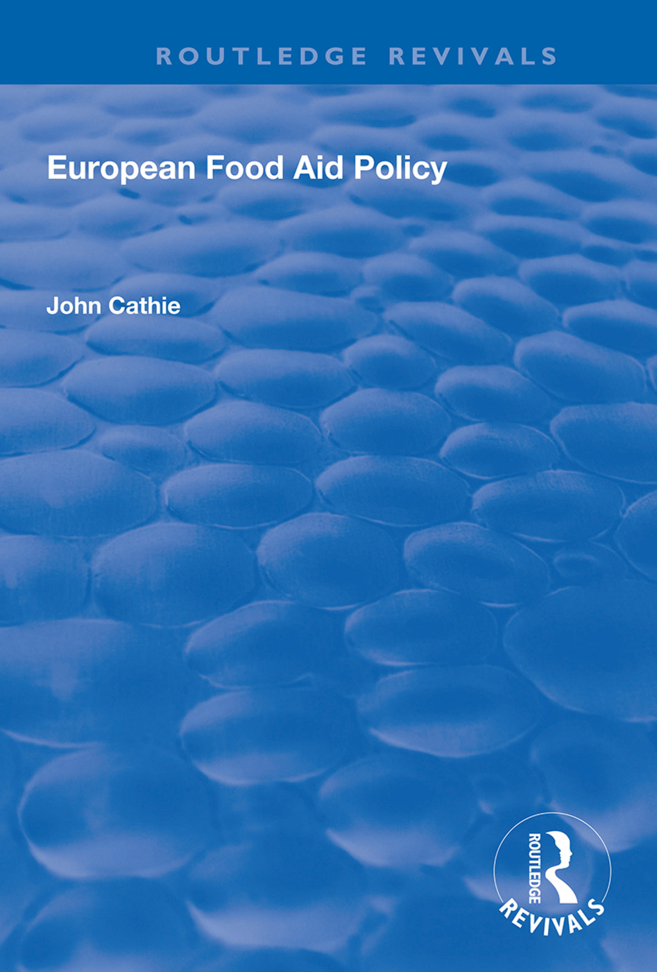 European Food Aid Policy: 1st Edition (Hardback) book cover