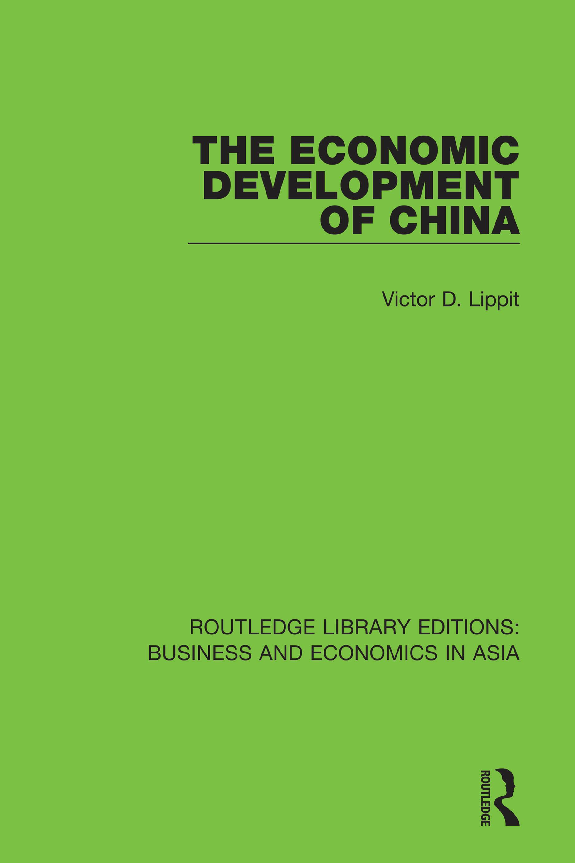 The Economic Development of China book cover