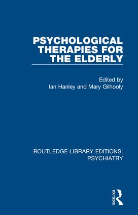 Psychological Therapies for the Elderly book cover