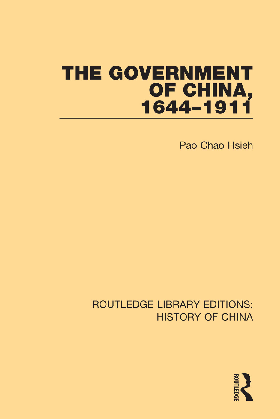 The Government of China, 1644-1911 book cover