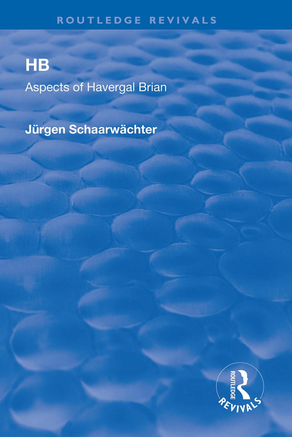 HB: Aspects of Harvergal Brian: Aspects of Harvergal Brian book cover