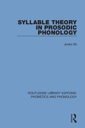Syllable Theory in Prosodic Phonology: 1st Edition (Hardback) book cover