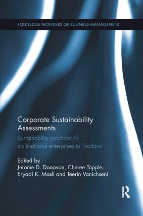 Corporate Sustainability Assessments: Sustainability practices of multinational enterprises in Thailand book cover