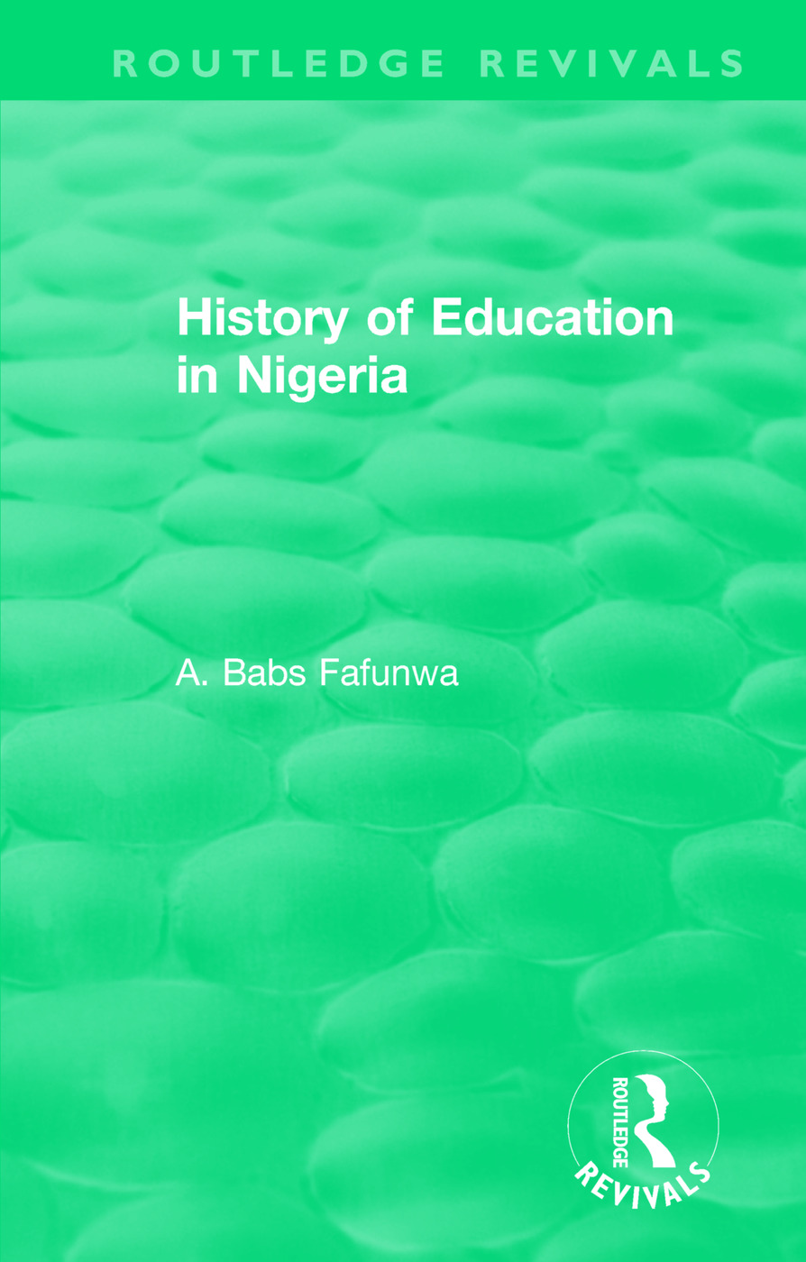 History of Education in Nigeria book cover