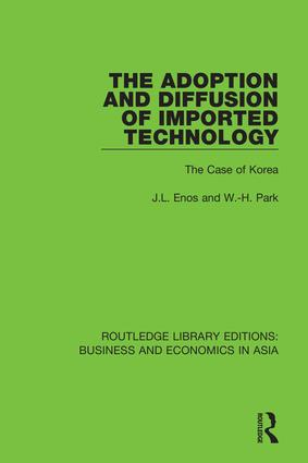 The Adoption and Diffusion of Imported Technology: The Case of Korea book cover