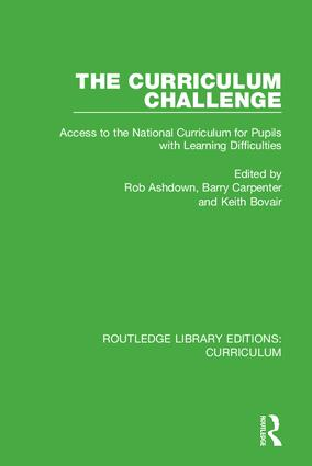 The Curriculum Challenge: Access to the National Curriculum for Pupils with Learning Difficulties, 1st Edition (e-Book) book cover