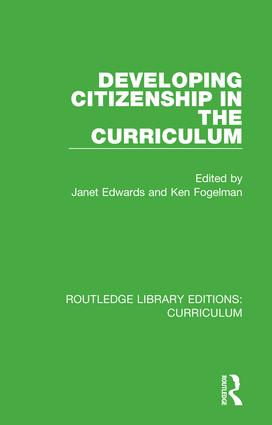 Developing Citizenship in the Curriculum book cover