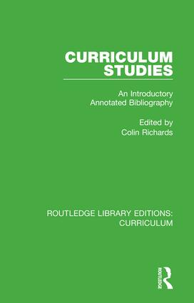 Curriculum Studies: An Introductory Annotated Bibliography, 1st Edition (Hardback) book cover