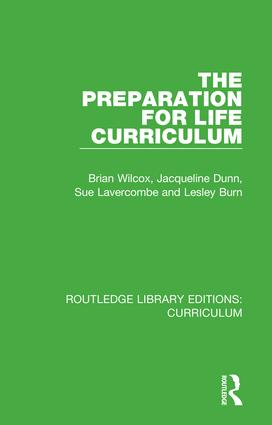 The Preparation for Life Curriculum: 1st Edition (Hardback) book cover