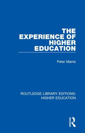 The Experience of Higher Education book cover