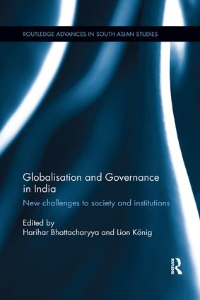 Globalisation and Governance in India: New Challenges to Society and Institutions, 1st Edition (Paperback) book cover