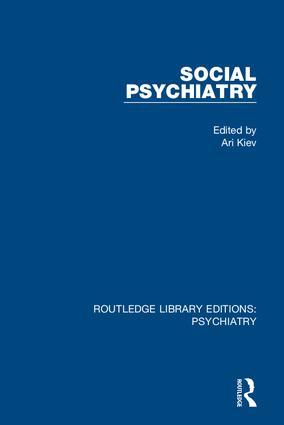 Social Psychiatry: Volume 1 book cover
