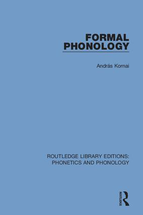 Formal Phonology: 1st Edition (Hardback) book cover