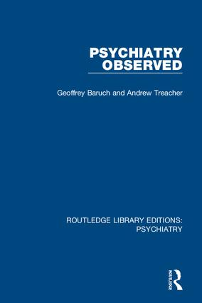 Psychiatry Observed: 1st Edition (Hardback) book cover