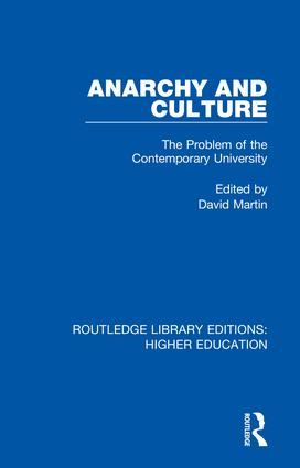 Anarchy and Culture: The Problem of the Contemporary University book cover