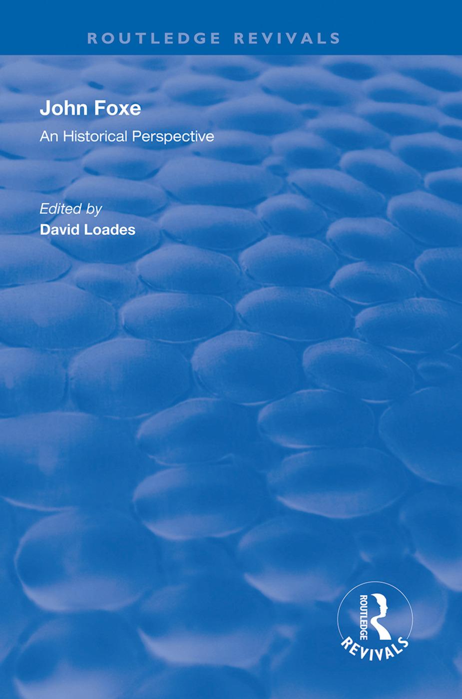 John Foxe: An Historical Perspective book cover