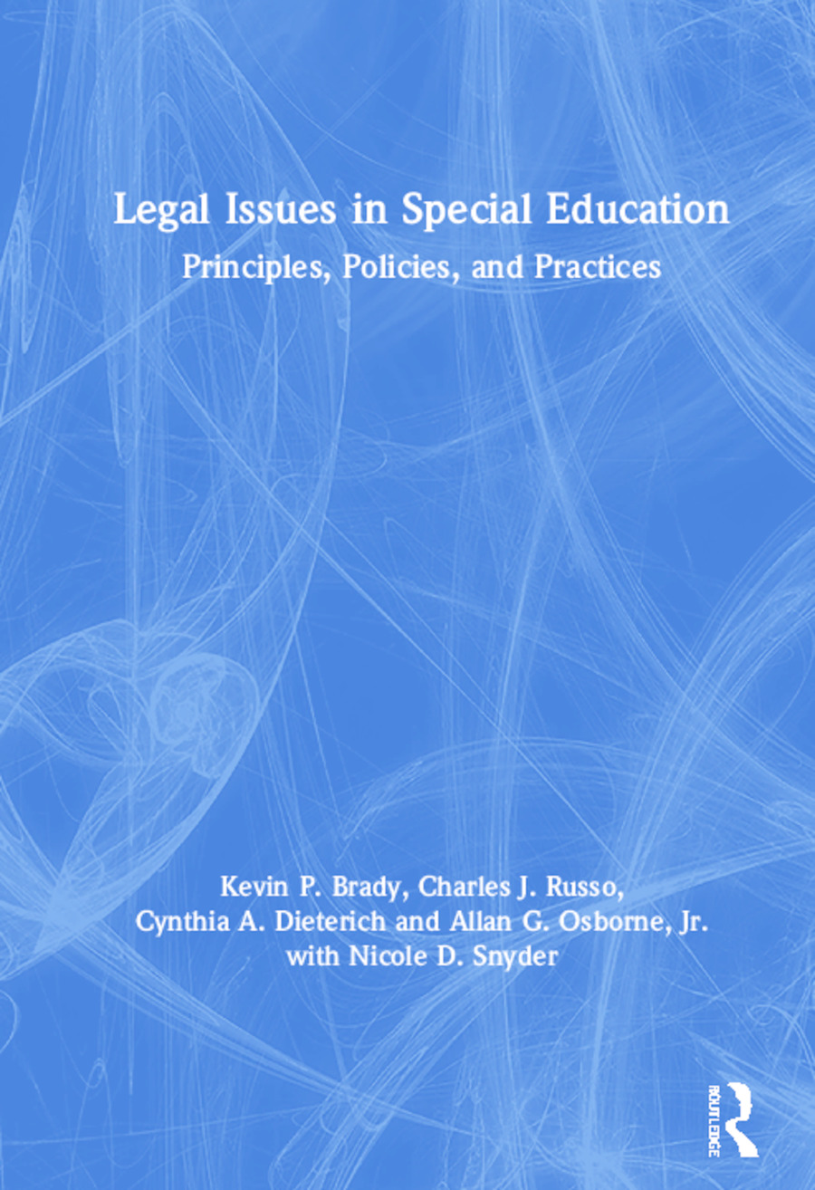 Legal Issues in Special Education: Principles, Policies, and Practices book cover