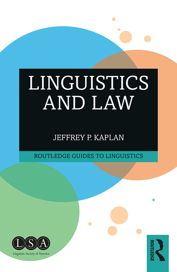 Linguistics and Law book cover