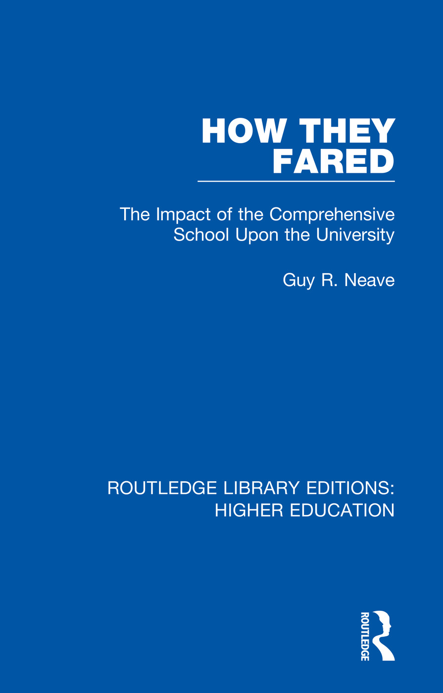 How They Fared: The Impact of the Comprehensive School Upon the University book cover