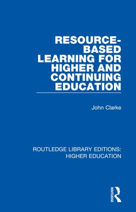 Resource-Based Learning for Higher and Continuing Education book cover