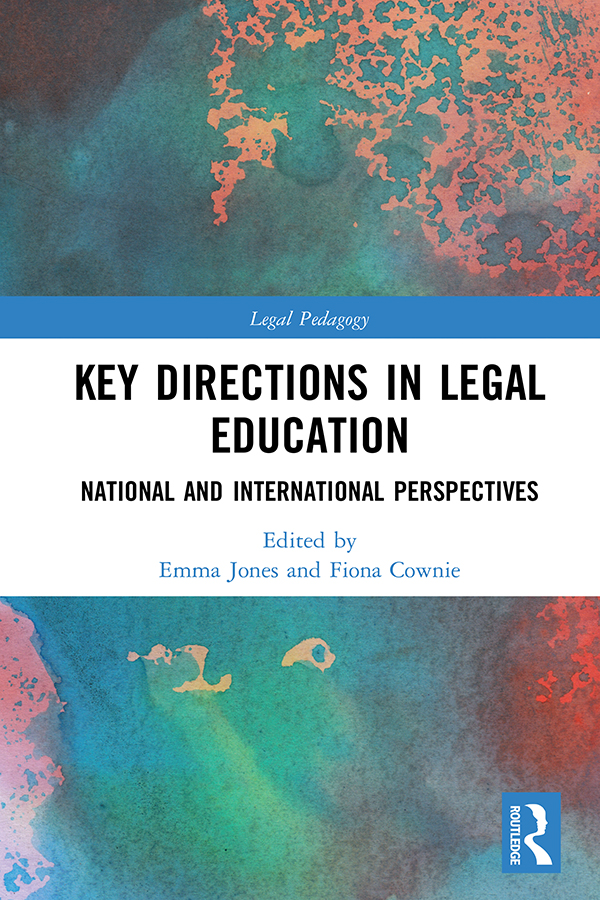 Key Directions in Legal Education: National and International Perspectives book cover