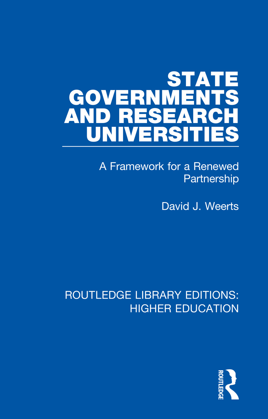 State Governments and Research Universities: A Framework for a Renewed Partnership book cover