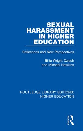 Sexual Harassment in Higher Education: Reflections and New Perspectives, 1st Edition (Hardback) book cover