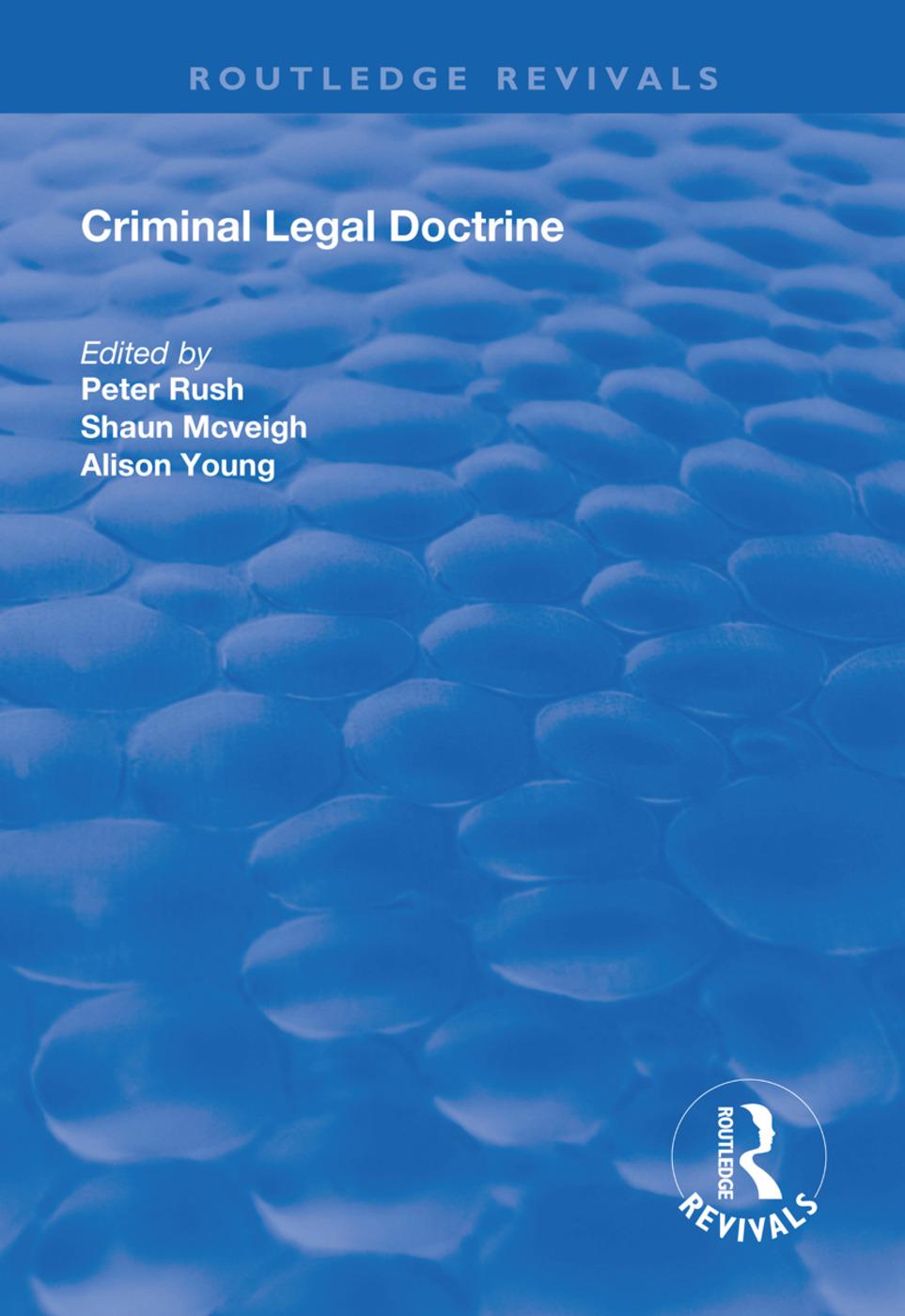 Criminal Legal Doctrine: 1st Edition (Hardback) book cover