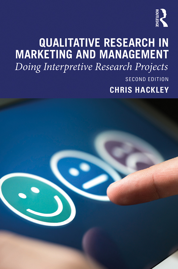 Qualitative Research in Marketing and Management: Doing Interpretive Research Projects, 2nd Edition (Hardback) book cover