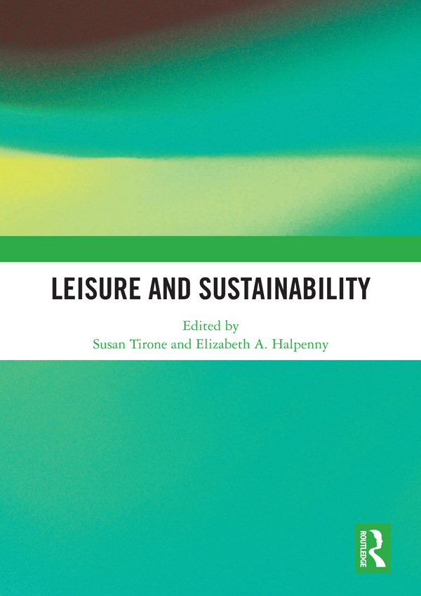 Leisure and Sustainability book cover