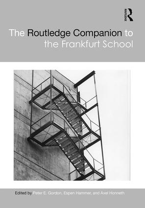 The Routledge Companion to the Frankfurt School Book Cover