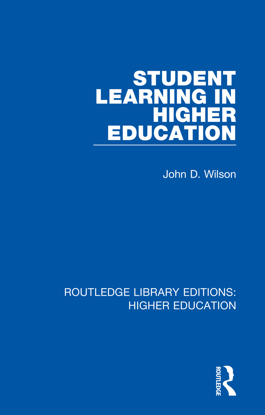 Student Learning in Higher Education book cover