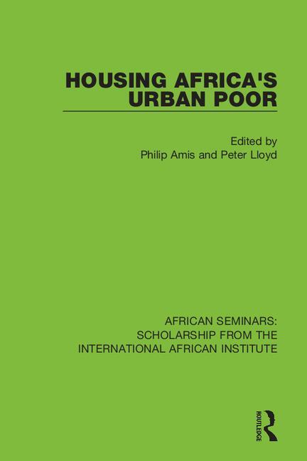 Housing Africa's Urban Poor book cover