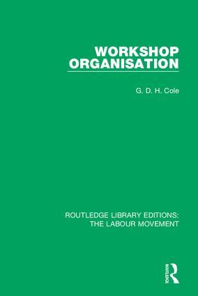 Workshop Organisation book cover
