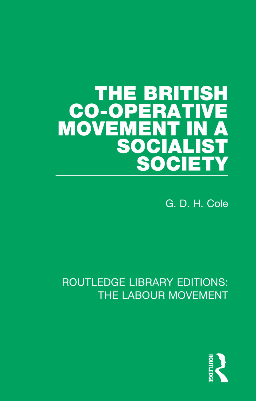 The British Co-operative Movement in a Socialist Society book cover
