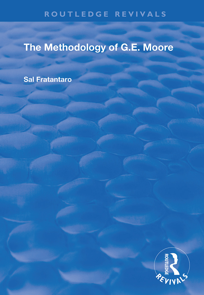 The Methodology of G.E. Moore book cover