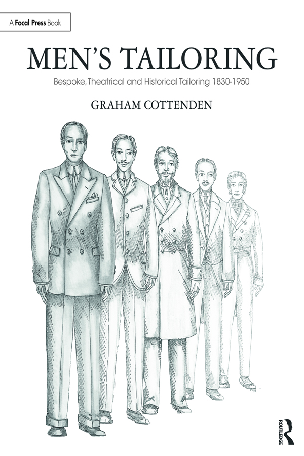 Men's Tailoring: Bespoke, Theatrical and Historical Tailoring 1830-1950 book cover
