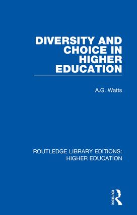 Diversity and Choice in Higher Education: 1st Edition (Hardback) book cover