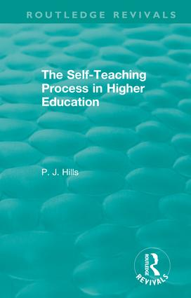 The Self-Teaching Process in Higher Education book cover