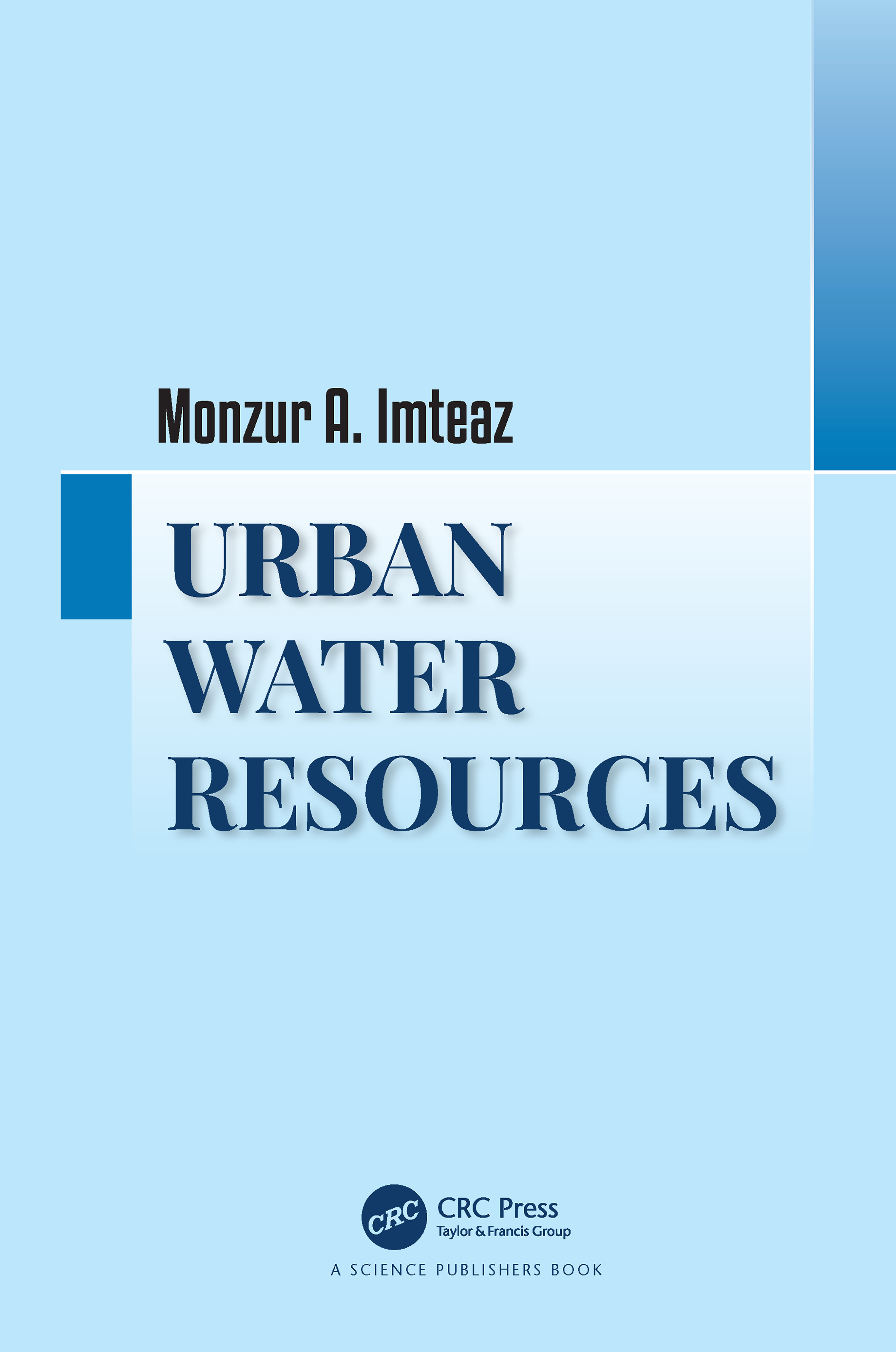 Urban Water Resources: 1st Edition (e-Book) book cover
