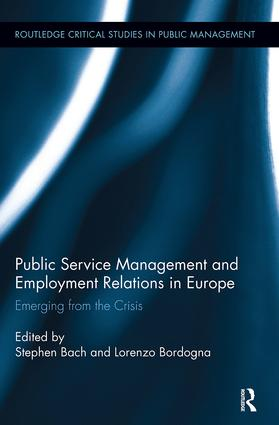 Public Service Management and Employment Relations in Europe: Emerging from the Crisis book cover