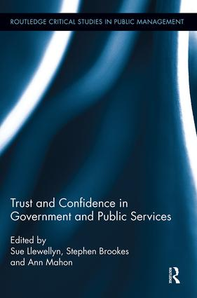 Trust and Confidence in Government and Public Services book cover