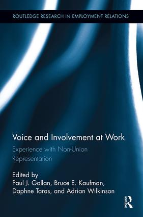 Voice and Involvement at Work: Experience with Non-Union Representation book cover